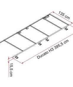 Fiamma Roof Rail Kit Fiat Ducato H3 06/2006 Onwards