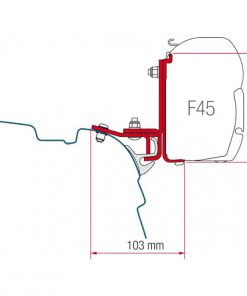 Fiamma F45 Bracket Kit Brandrup VW T5