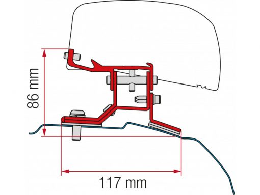 Fiamma F40 Bracket for Ford Transit L1 2012 Onwards